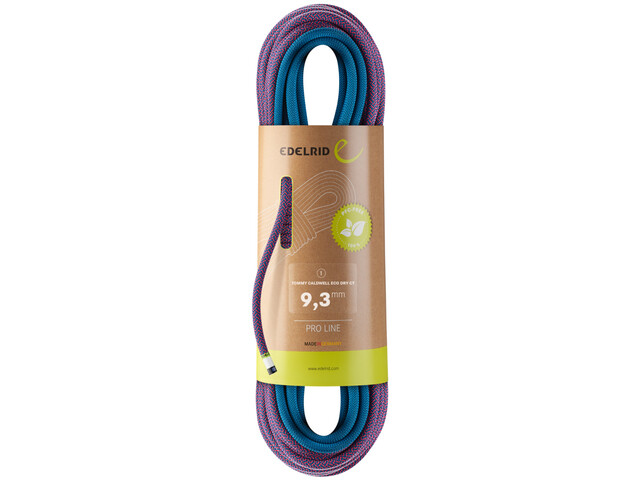 Edelrid Tommy Caldwell Eco Dry CT Rope 9,3mm x 70m, pink/turquoise